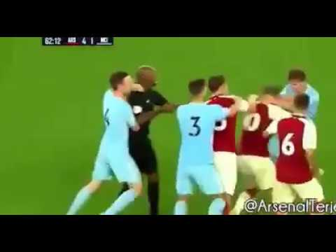 Jack Wilshere - Fight with Man City U23 Player   2017