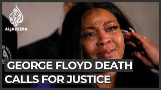Through tears, mother of George Floyd's daughter demands justice