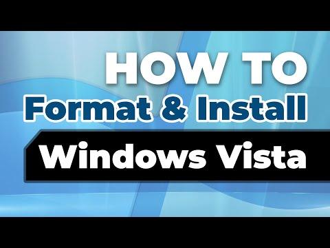 OS Tutorials: How to Format & Install Windows Vista