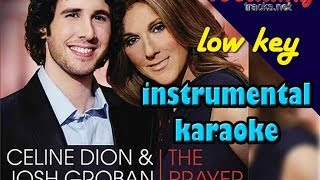 The Prayer (low key) karaoke instrumental