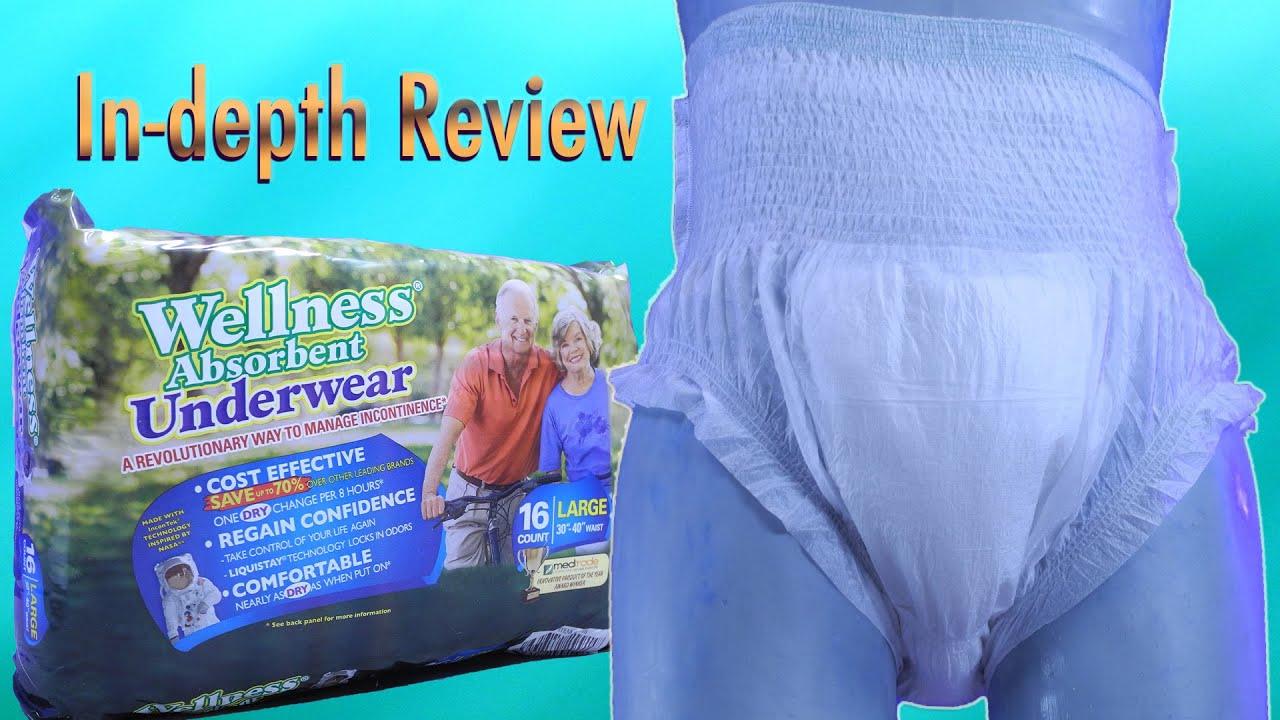 Unique  Wellness Underwear  In-Depth Review  #adultdiaper #pullup