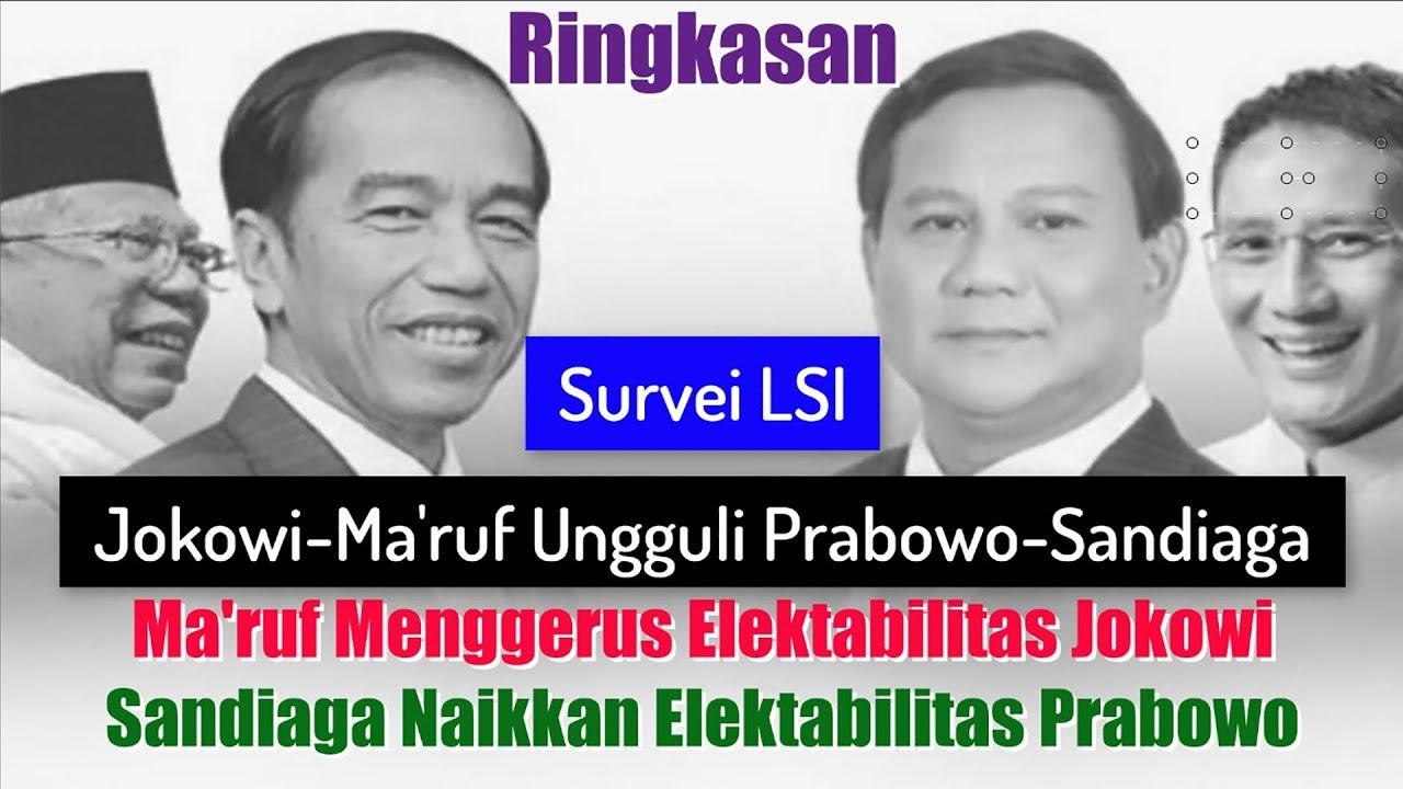 Hasil gambar untuk LSI Ungguli Prabowo