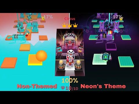 Rolling Sky Level 27 Circus • Non-Themed vs Level 25 Neon's Theme