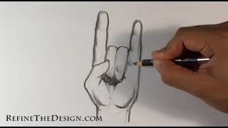 How to Draw a Rock On Hand - Draw Tattoo Art
