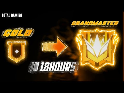 Yeh! Global Top 1 Only 18 Hours Gold To GrandMaster Must Watch - Garena Freee Fire