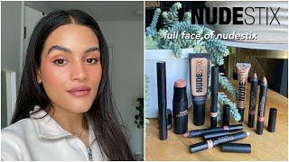 full face of nudestix // wear …