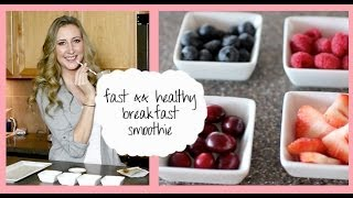 Fast && Healthy Breakfast Recipe: Meal Replacement Smoothie