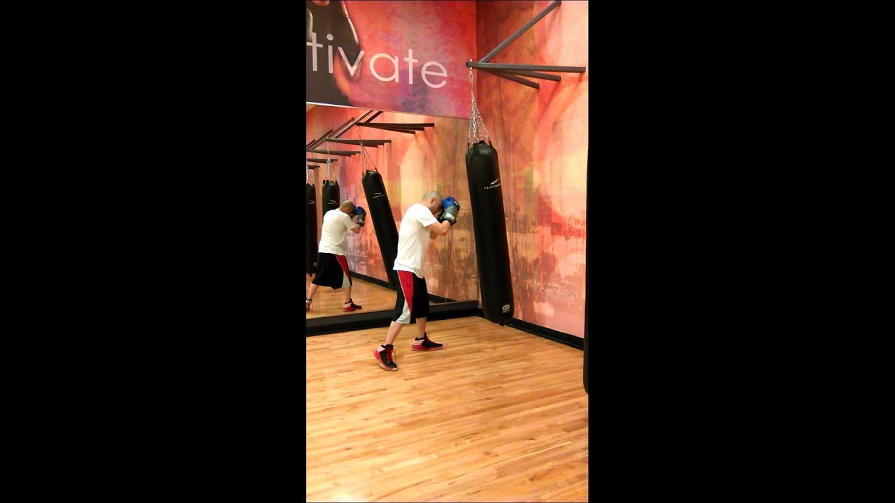 Marcus boxing at LA fitness 2 - YouTube