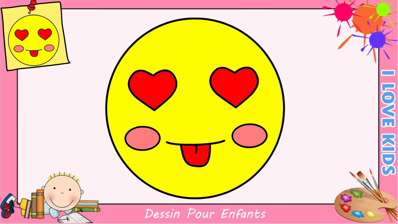 comment dessiner un emoji kawaii facile pour enfants dessin kawaii 1 youtube. Black Bedroom Furniture Sets. Home Design Ideas