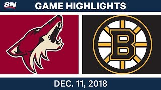 NHL Highlights | Coyotes vs. Bruins - Dec 11, 2018