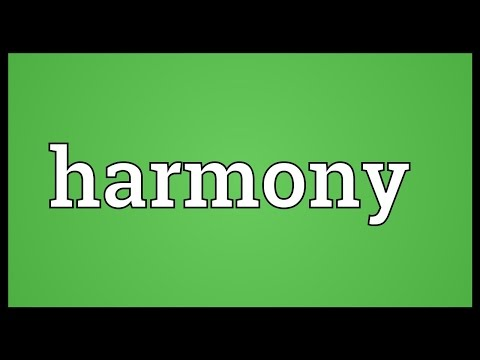 Harmony Meaning