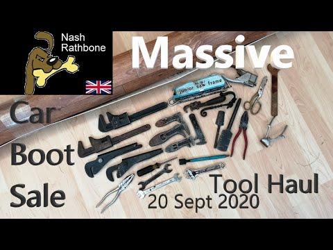 Massive Car Boot Sale/Flea Market Tool Haul 20 Sept 2020