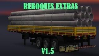 ETS2 - DOWNLOAD E INSTALAÇÃO DE REBOQUES EXTRAS V1.5.1 PARA O MAPA EAA