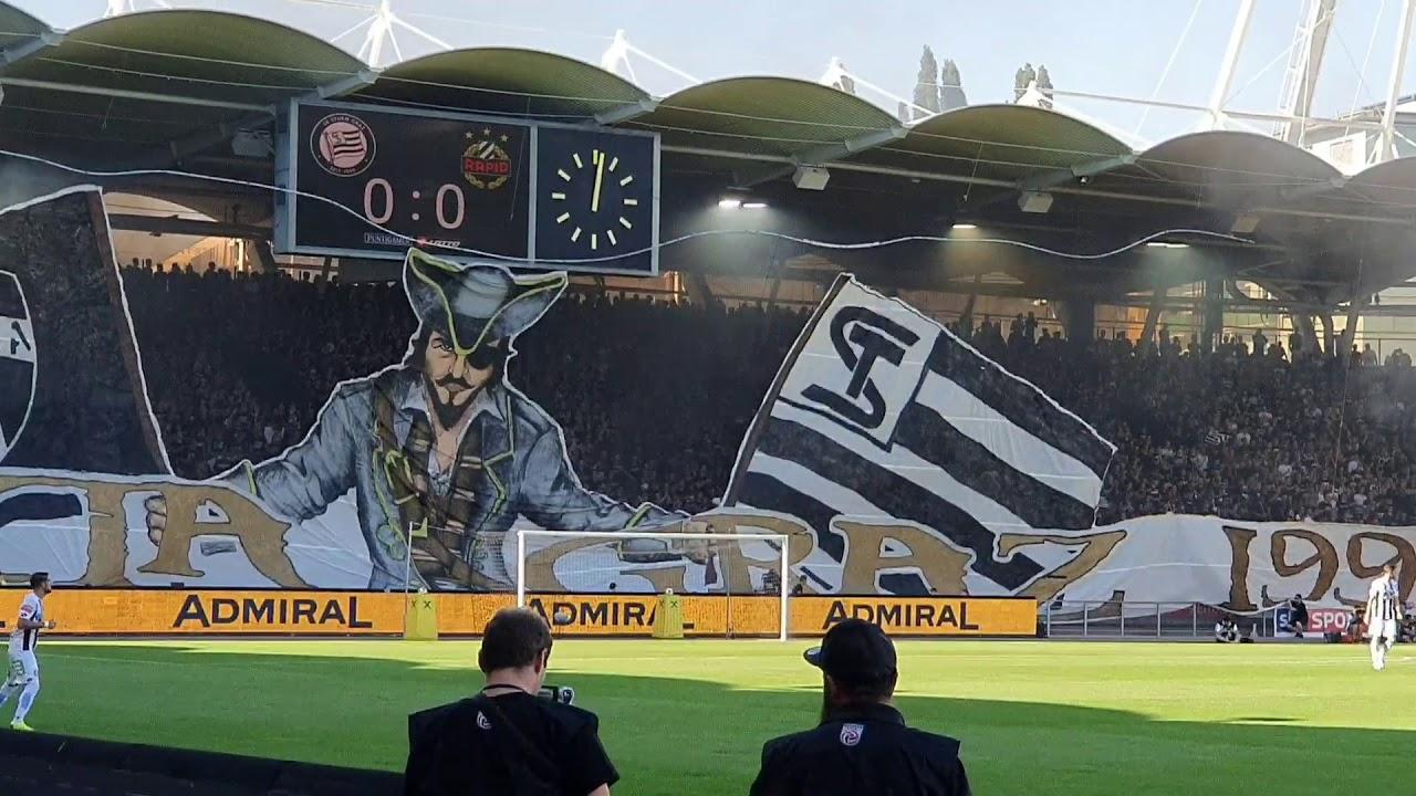 18 08 2019 Sk Sturm Graz Rapid Wien 25 Jahre Choreo Pyro Pyrotechnik Support Youtube
