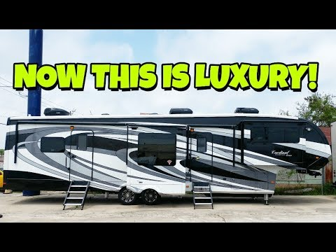 Ultra luxury cardinal estate front living room fifth wheel - 2016 luxury front living room 5th wheel ...