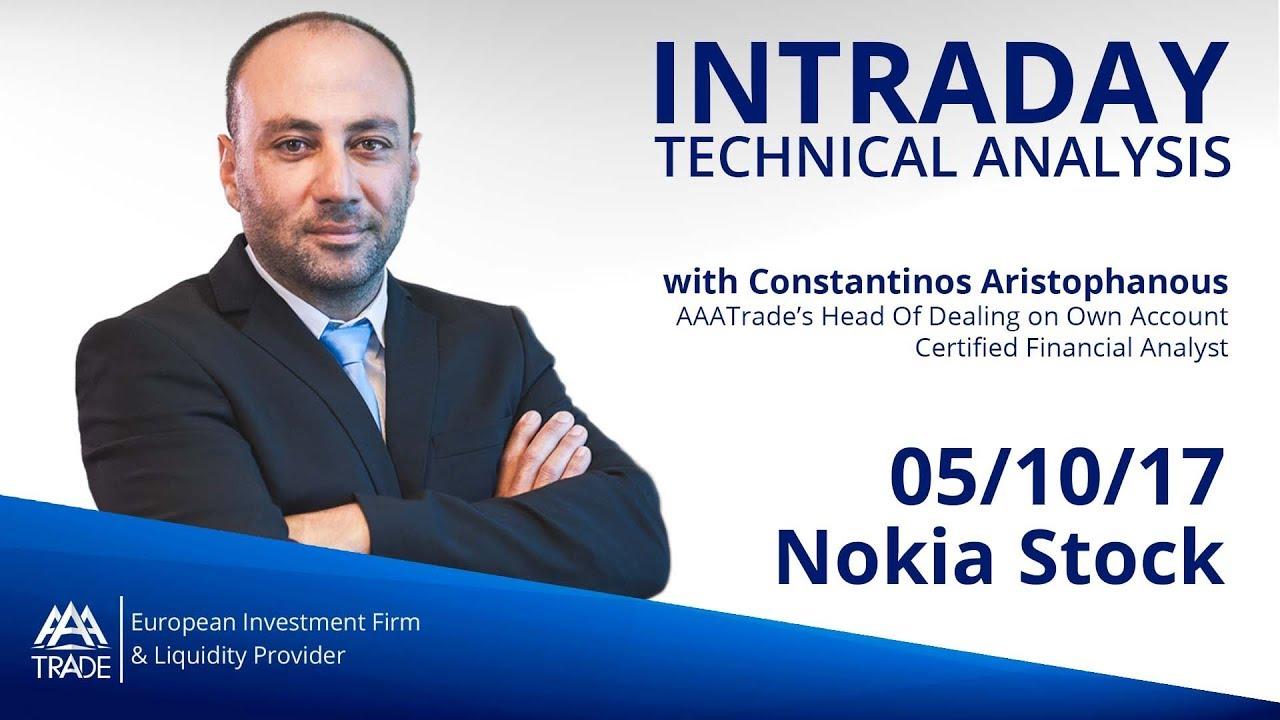 Intraday Technical Analysis: 05/10/17 Nokia Stock