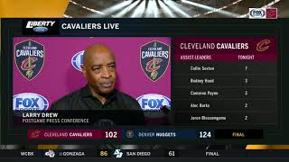 Larry Drew liked what he saw from Cedi Osman, Ante Zizic in Denver   CAVS-NUGGETS POSTGAME