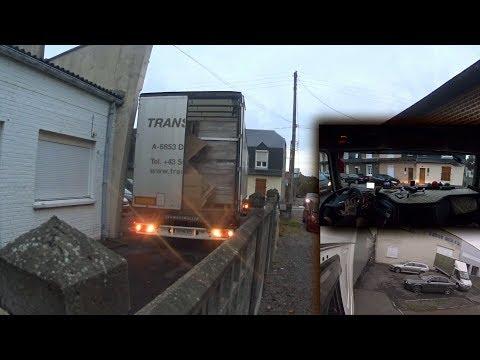 177.Tolatás kamionnal szűk helyeken.