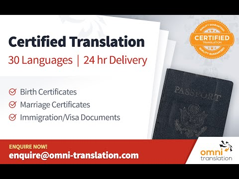 Certified Translation Services for Official Documents