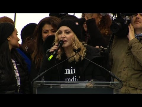 Madonna to march critics: F**k you