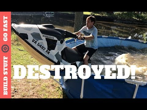 Jet Ski Destroyed My Pool