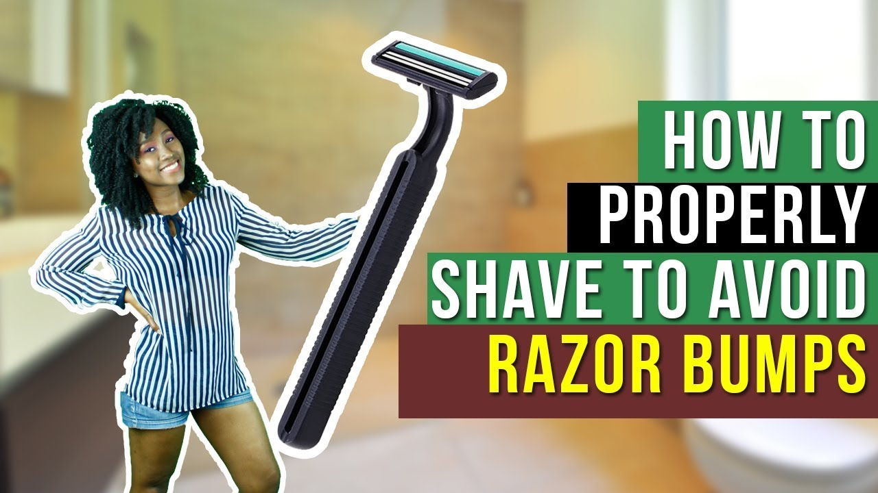 How to properly shave to avoid Razor Bumps - YouTube