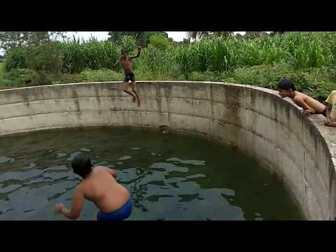 Boys Swimming In Natural Swimming Pool Youtube
