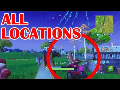 Shoot Clay Pigeons ALL LOCATIONS - Fortnite Battle Royale!