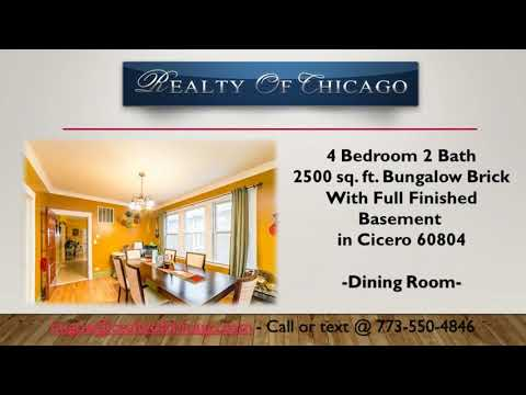 4 Bedroom home for sale in Daniel Burnham Elementary School 1803 59th Cicero Il 60804