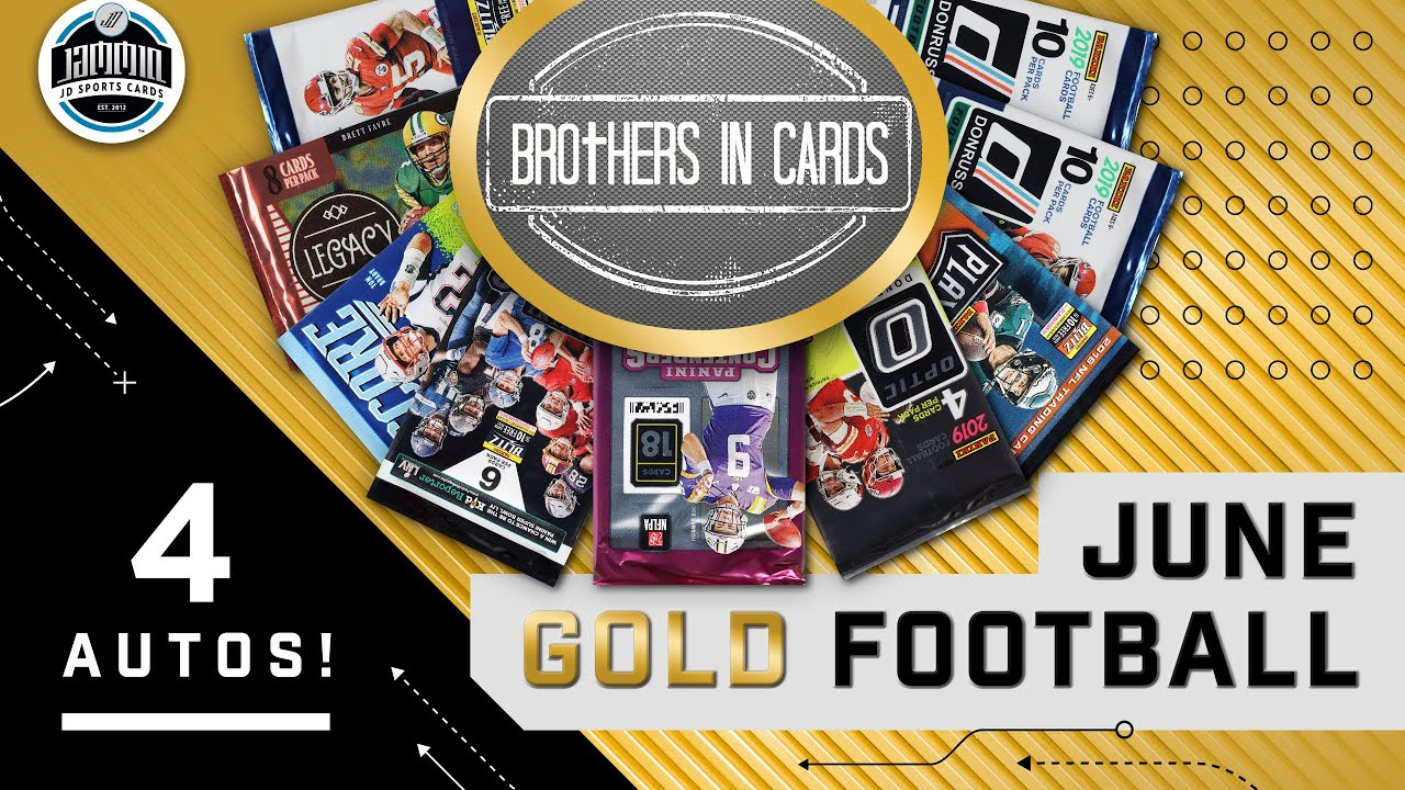 Brothers in Cards FOOTBALL JUNE GOLD Box | 4 AUTOS!!!