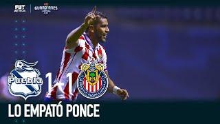 ¡GOOOOOL! Tremendo error de Antony Silva tras el disparo de Ponce |Puebla 1-1 Chivas