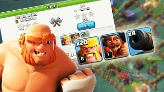 NOVO LAYOUT CC4 PARA VENCER OPONENTES MAIS FORTES NO CLASH OF CLANS