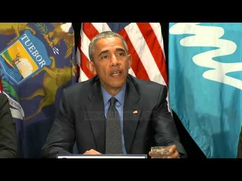Michigan, Obama teston ujin e rrjetit: Nuk është i rrezikshëm - Top Channel Albania - News - Lajme