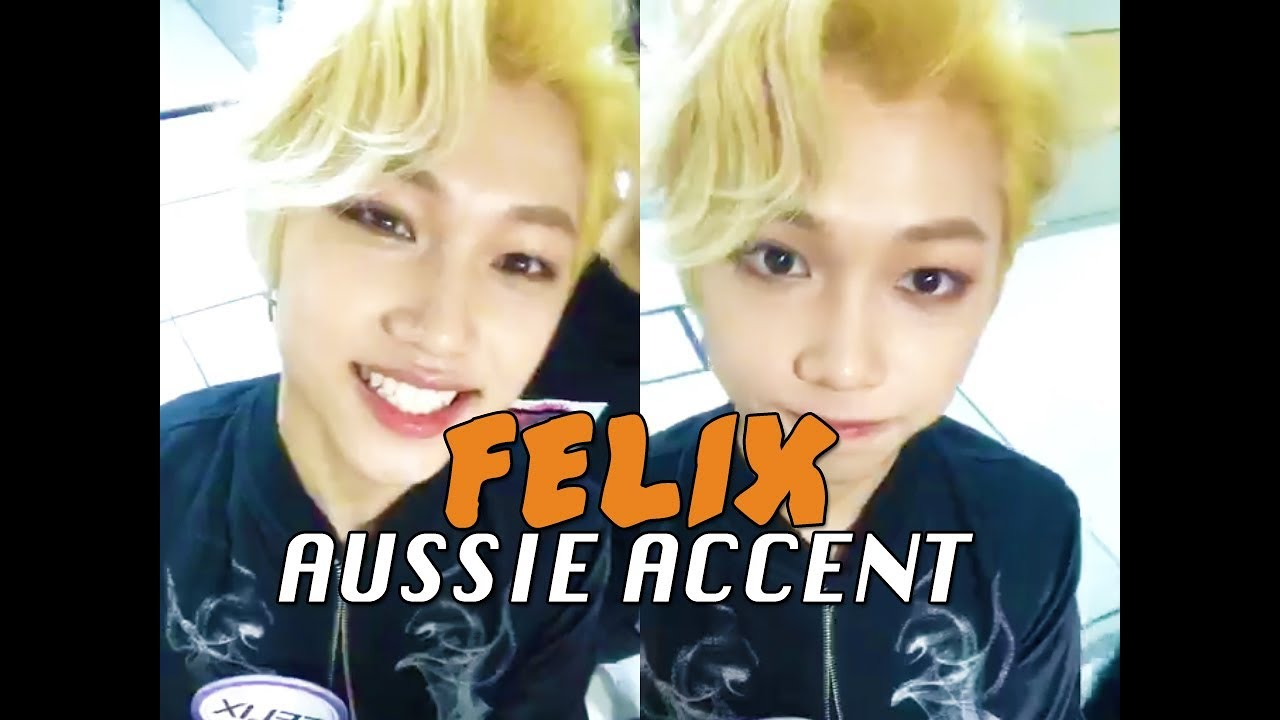 Stray Kids Felix Speaking English (Australian Accent)
