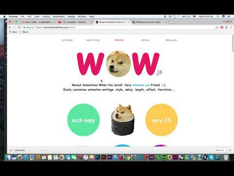 How To Use Wow Js With Animate CSS