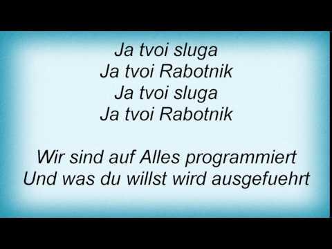 Kraftwerk - Die Roboter Lyrics