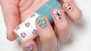 스티커로 하는 폴프랭크 네일아트 / Paul Frank Nail Art With Sticker ㅣ 예그시