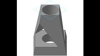 Видеоуроки Компас 3D. Урок 4.  Изометрия геометрического тела. Операция по сечениям в Компасе