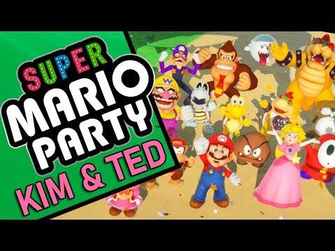 SUPER MARIO PARTY | Kim & Ted vs Team Princess