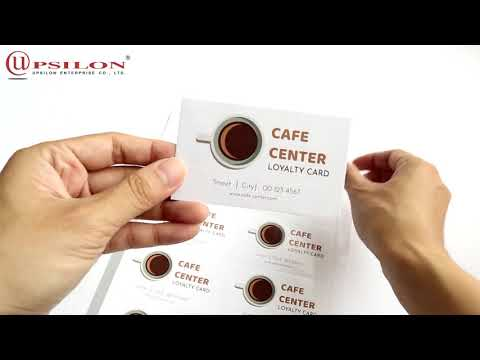 How To Use Inkjet DIY Double Sided Glossy Matte Business Card Paper (UP7610)