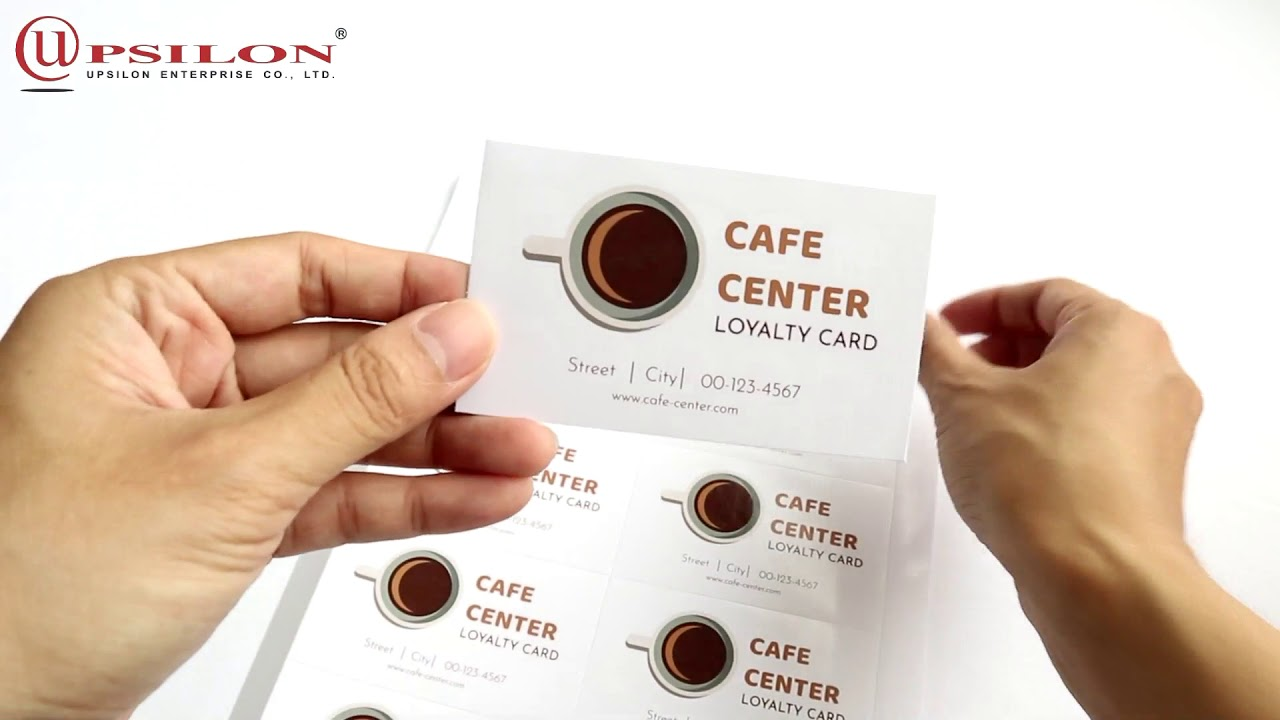 How To Use Inkjet Diy Double Sided Glossy Matte Business Card Paper