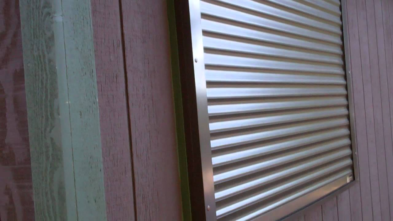 Rolling Shutters Security Shutters On Cabin Youtube