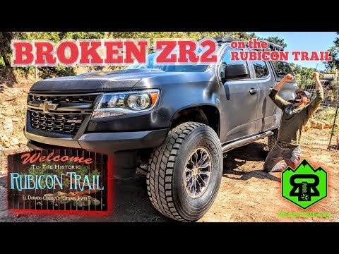 BROKEN CHEVROLET COLORADO ZR2 on the offroad 4X4 Rubicon trail