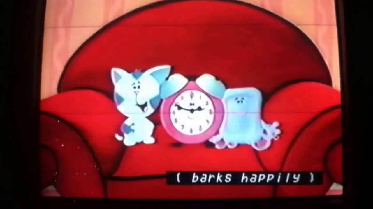 Blue's Clues We sat on Down (Periwinkle, Tickeity, and ...