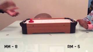 Mini air hockey table unboxing