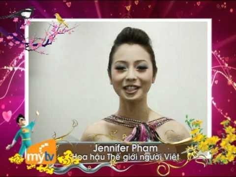 Hoa hậu Thế giới người Việt  Jennifer Phạm - chúc Tết MyTV