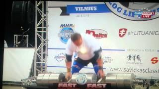 Zydrunas Savickas 222,5kg WORLD RECORD, LOG LIFT