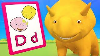 Eğitici çizgi film - alfabe ALFABE hakkında Öğrenme: F J - Dino ile Öğrenin