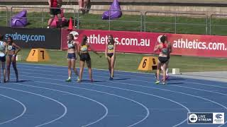 U16 Womens 100m - Heat 2 - 2018 Australian Junior Athletics Championships