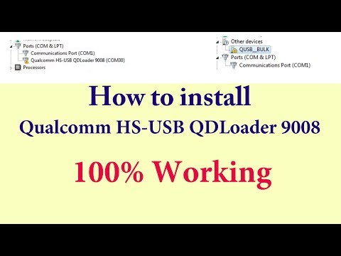 How to Install Qualcomm HS USB QDLoader 9008 - YouTube